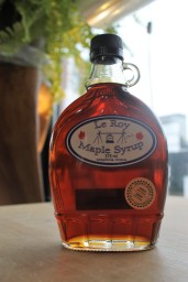 This maple syrup comes from our forest!
