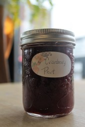 Trillium's Signature Cranberry Port. They can be used in so many ways. Try in scones and muffins, or melted over brie!