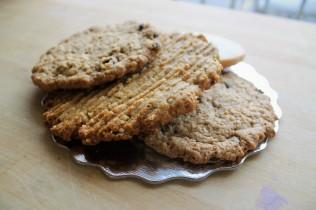 Different varieties of cookies.